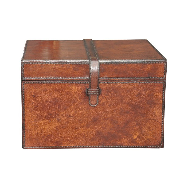 Guild Master Small Stitched Leather Box (8819-026)