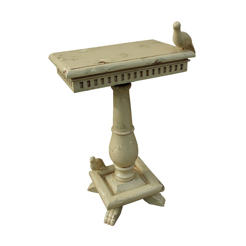 Guild Master Socle Table With Birds (719067CR)