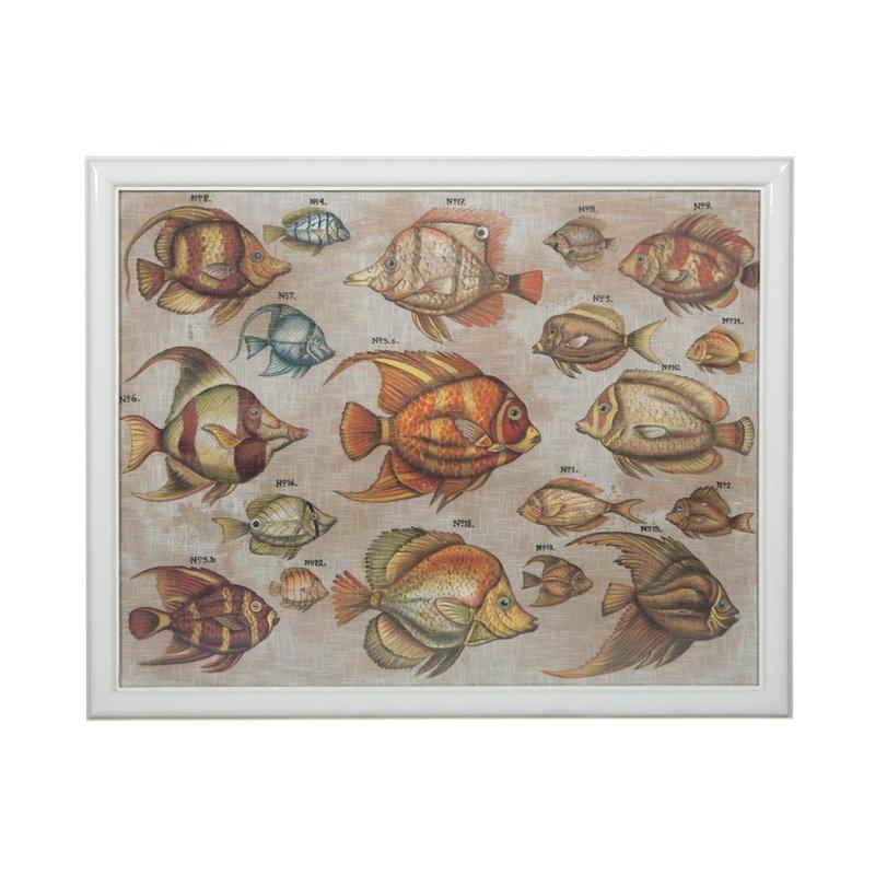 Guild Master Tropical Fish Study Wall Art