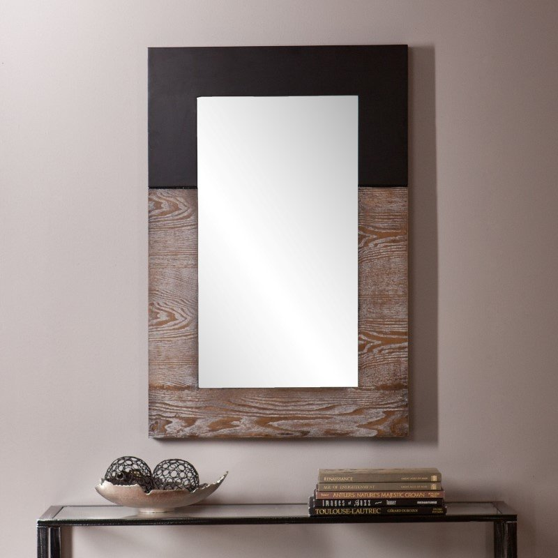 Holly & Martin Wagars Mirror in Burnt Oak & Black