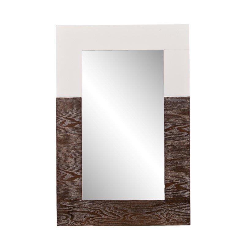 Holly & Martin Wagars Mirror in Burnt Oak & White