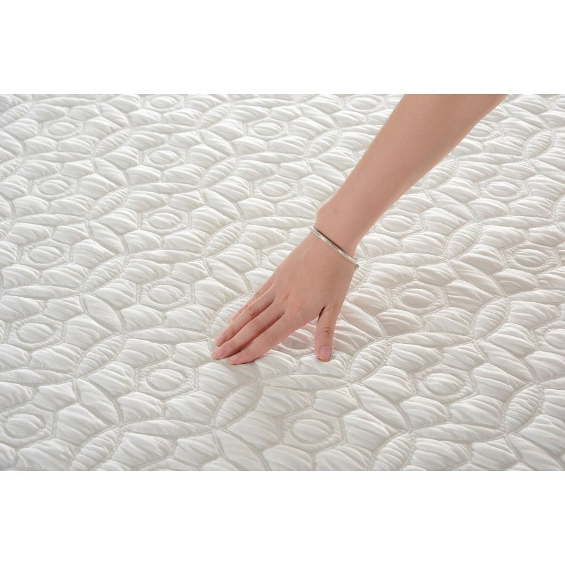 HomeRoots Furniture 11.5 California King Plush Pocketed Coil Mattress with Cool Gel Memory Foam (248072)