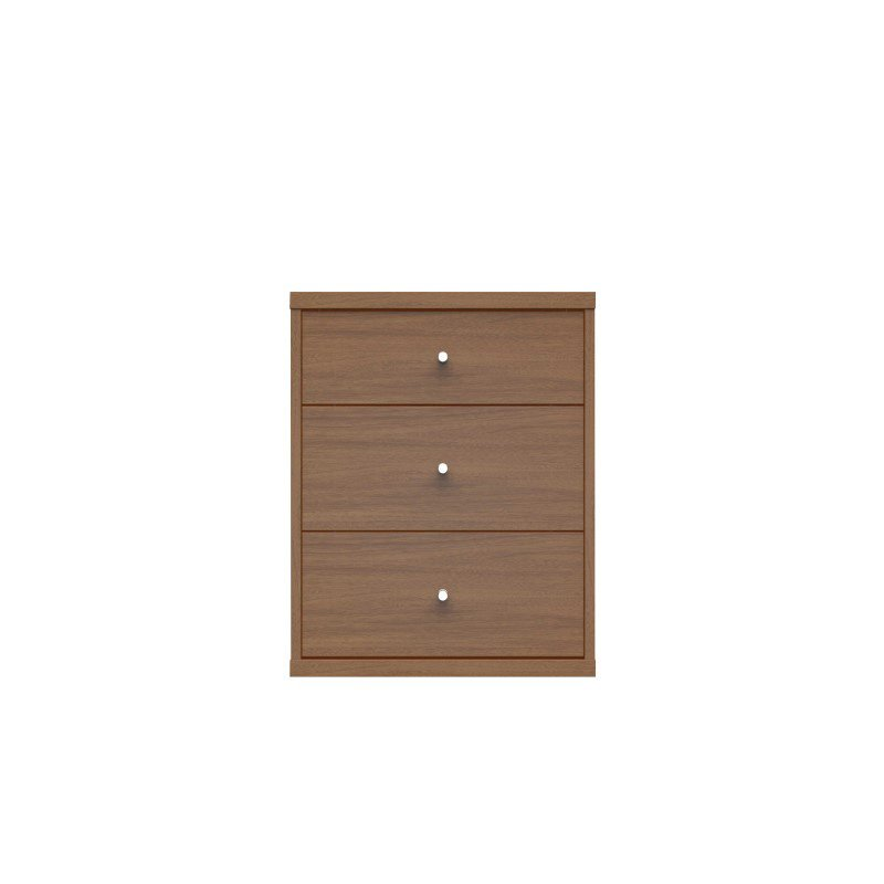 HomeRoots Furniture 2.0 Modern Night stand with 3-Drawers in Maple Cream (250697)