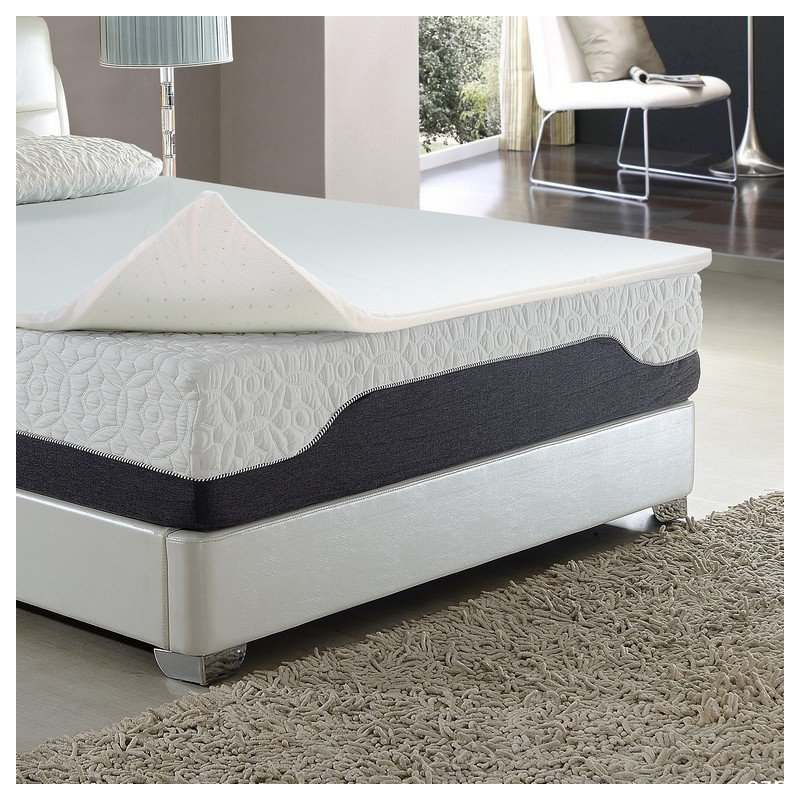 HomeRoots Furniture 2 Latex Foam Topper with Cool Gel Layer (248111)
