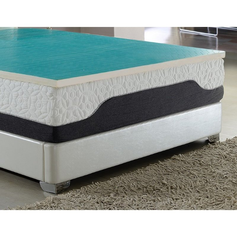 HomeRoots Furniture 2 Latex Foam Topper with Cool Gel Layer (248112)