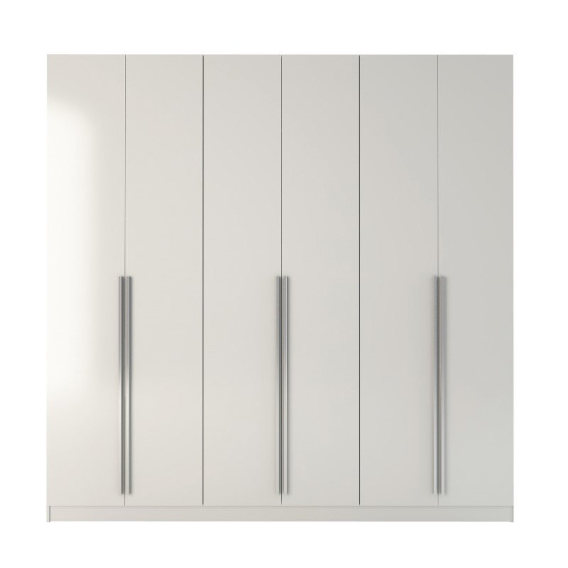 HomeRoots Furniture 4-Drawer He/She Freestanding Armoire in White Gloss (250689)