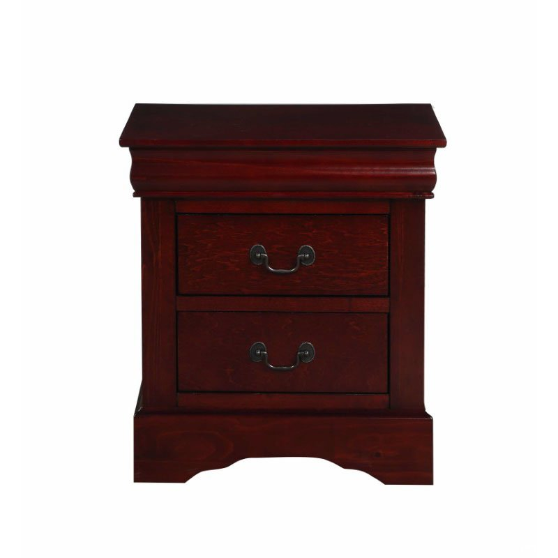 HomeRoots Furniture Antique Brass, Wood - Nightstand (320545)