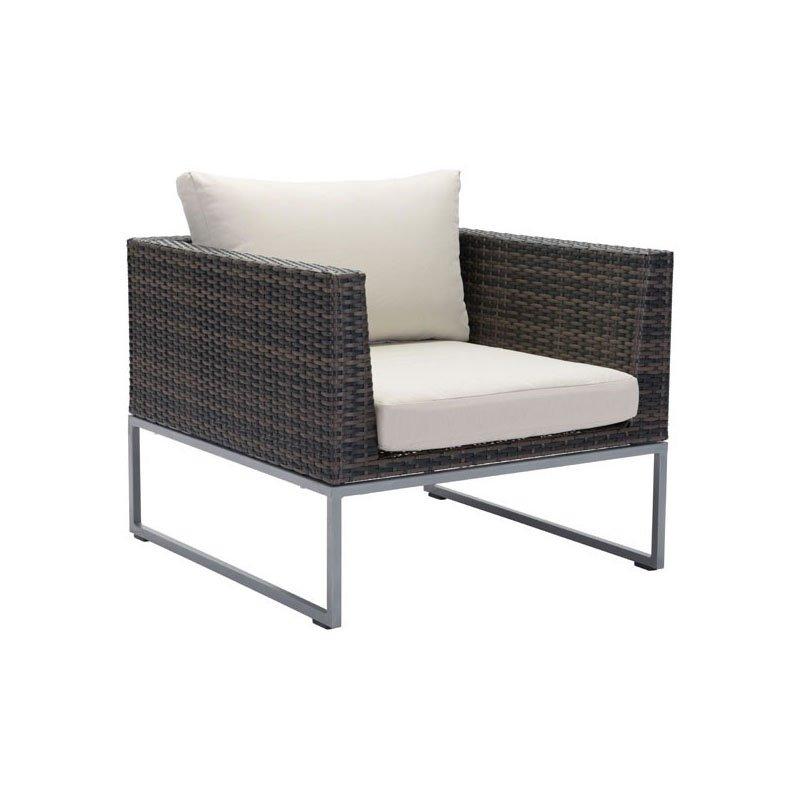 HomeRoots Furniture Arm Chair Brown & Beige (296216)