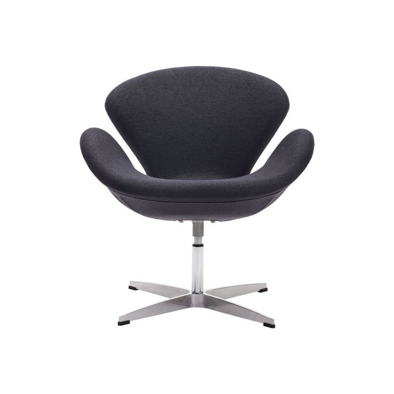 HomeRoots Furniture Arm Chair Iron Gray - Polyblend Steel (249120)