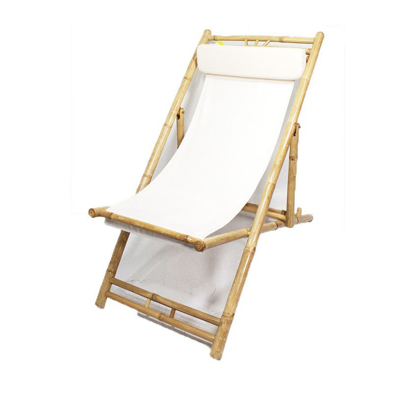 HomeRoots Furniture Bamboo Folding Sling Chair (Set of 2) - Bamboo (294752)