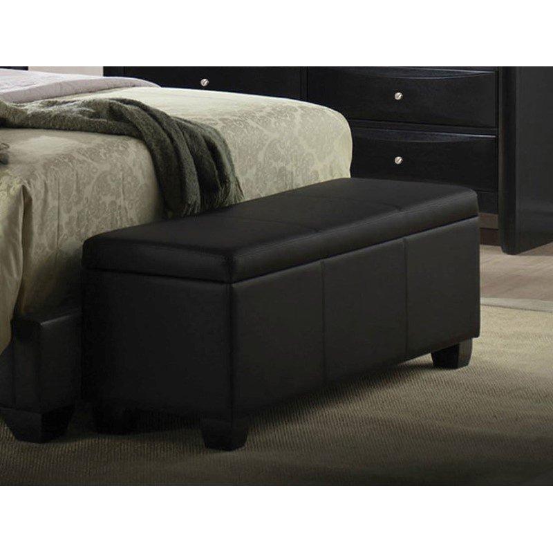 HomeRoots Furniture Bench with Storage, Black (285526)