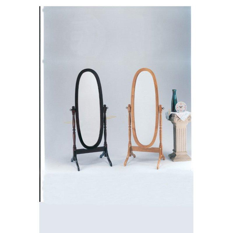 HomeRoots Furniture Cheval Mirror - MDF, Mirror Cherry (286526)