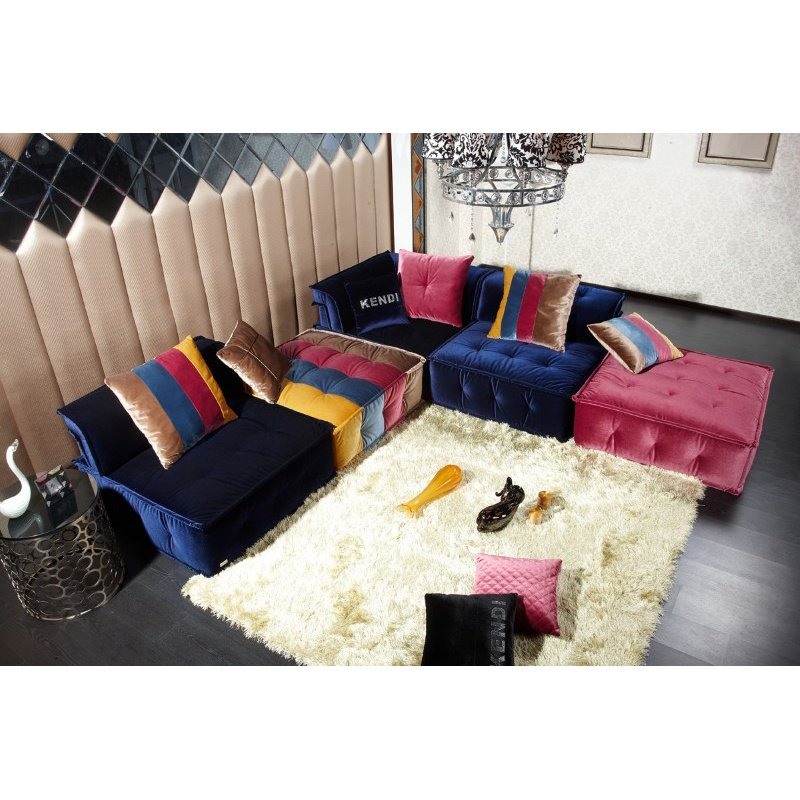 HomeRoots Furniture Contemporary Fabric Sectional Sofa (283674)