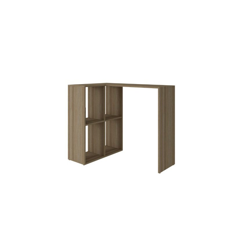 HomeRoots Furniture Cubby Desk with 4 Shelves in Oak (250821)