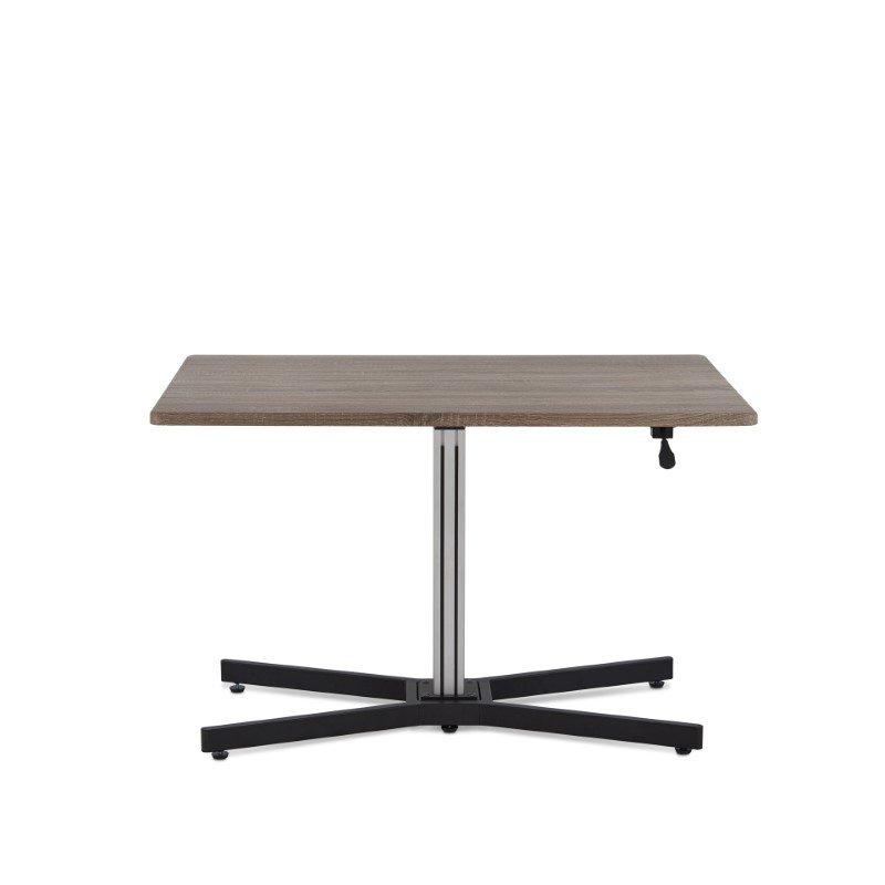 HomeRoots Furniture Desk in Gray Oak - PVC, Particle Board, Metal (286401)