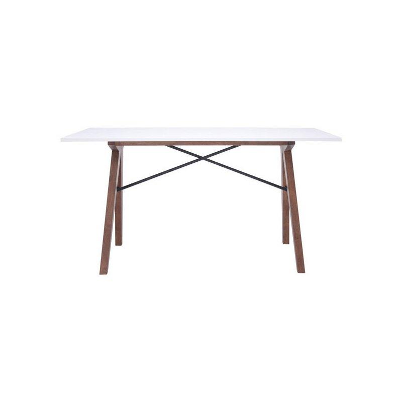 HomeRoots Furniture Desk - MDF Metal, Rubberwood (248688)
