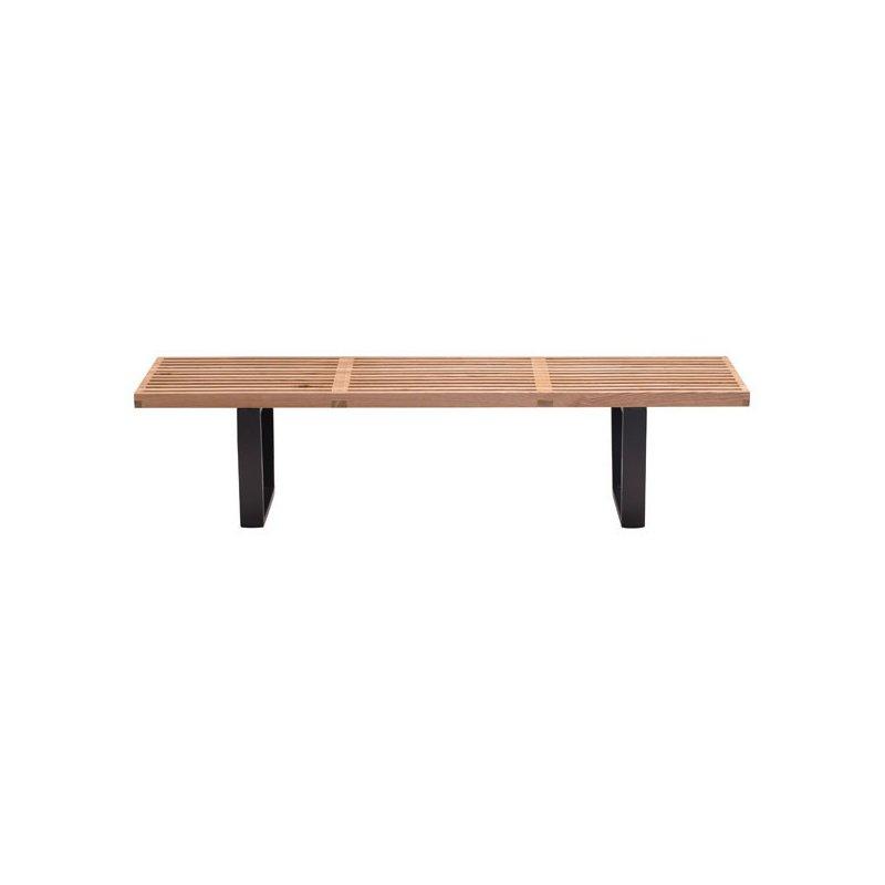 HomeRoots Furniture Double Bench Natural - Fir Wood (249108)