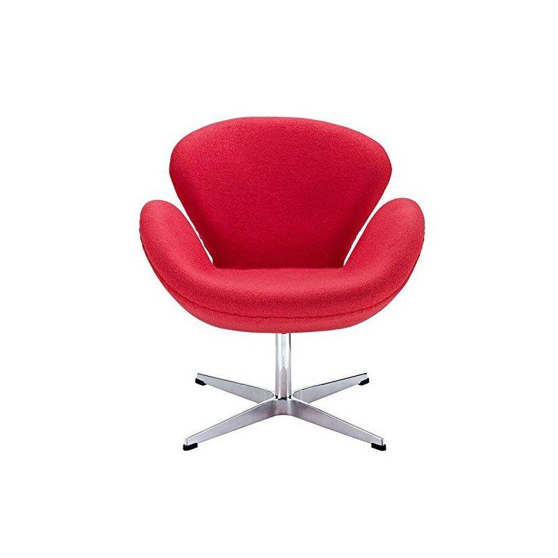 HomeRoots Furniture Fiberglass Chair in Red (284578)