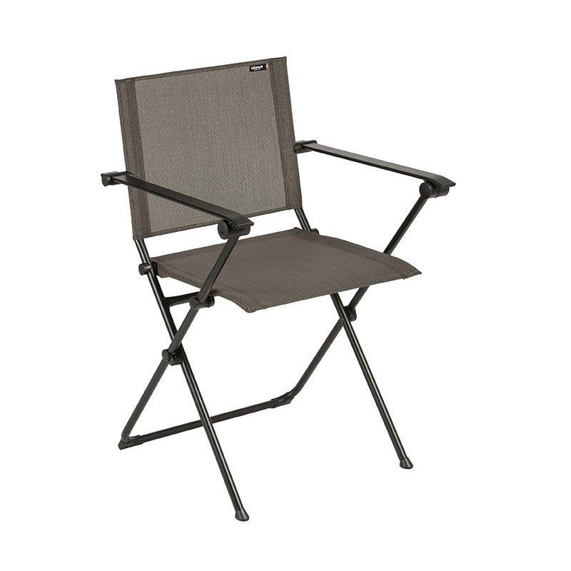 HomeRoots Furniture Folding Armchair - Black Steel Frame - Wood Duo Fabric (320640)