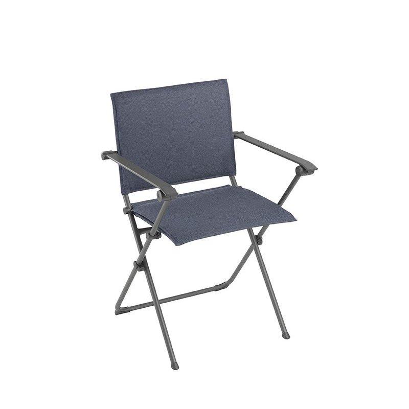 HomeRoots Furniture Folding Armchair - Titane Steel Frame - Marina Hedona Fabric (320577)