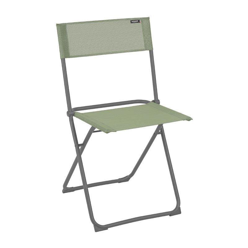 HomeRoots Furniture Folding Chair - Set of 2 - Basalt Steel Frame - Moss Fabric (320633)