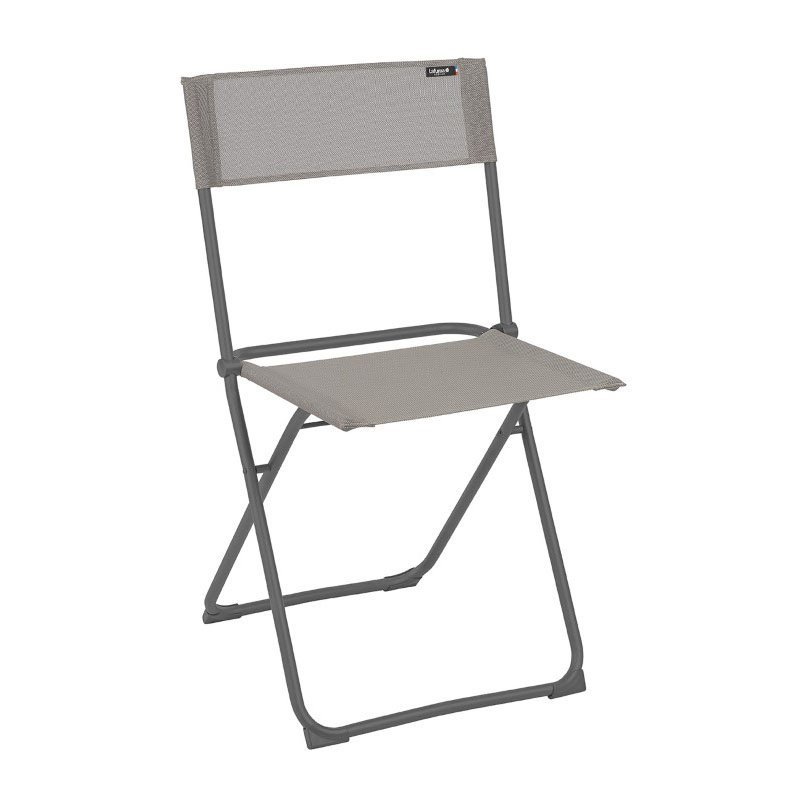 HomeRoots Furniture Folding Chair - Set of 2 - Basalt Steel Frame - Terre Fabric (320634)