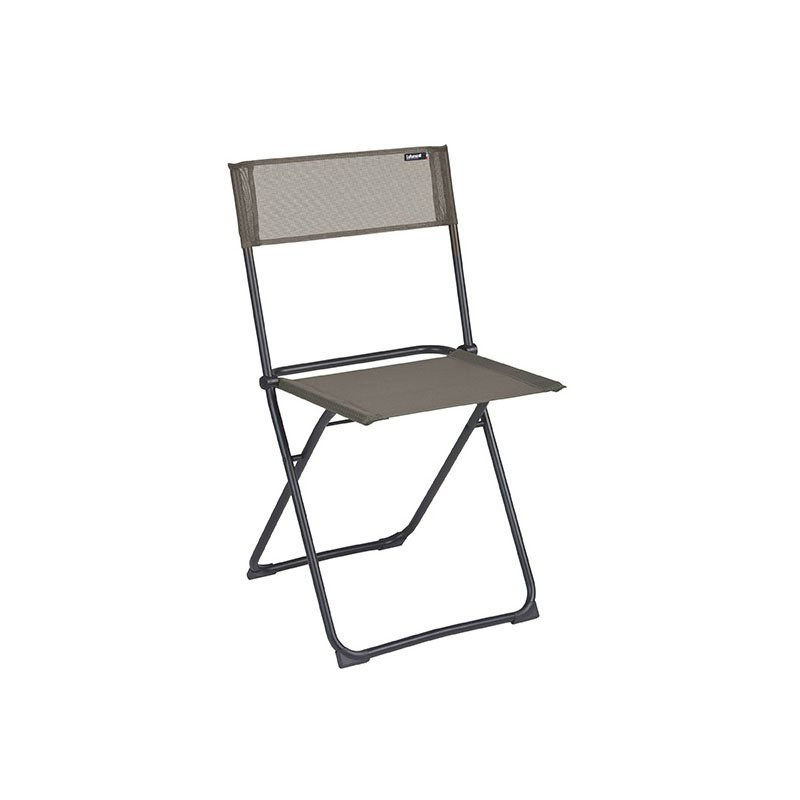 HomeRoots Furniture Folding Chair - Set of 2 - Black Steel Frame - Graphite Fabric (320631)