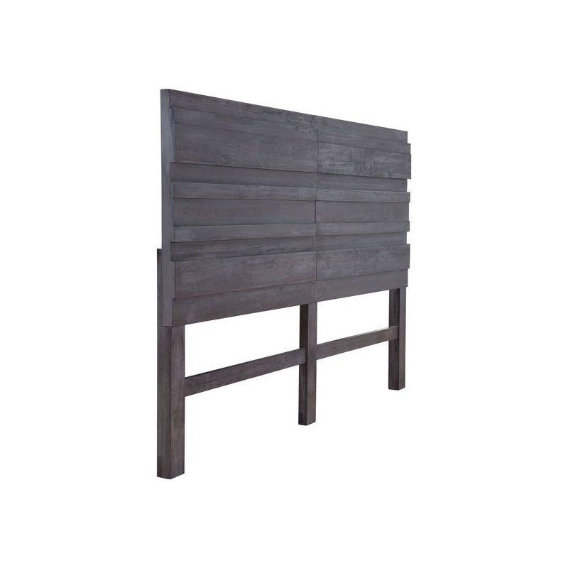 HomeRoots Furniture Headboard King Old Gray (309006)