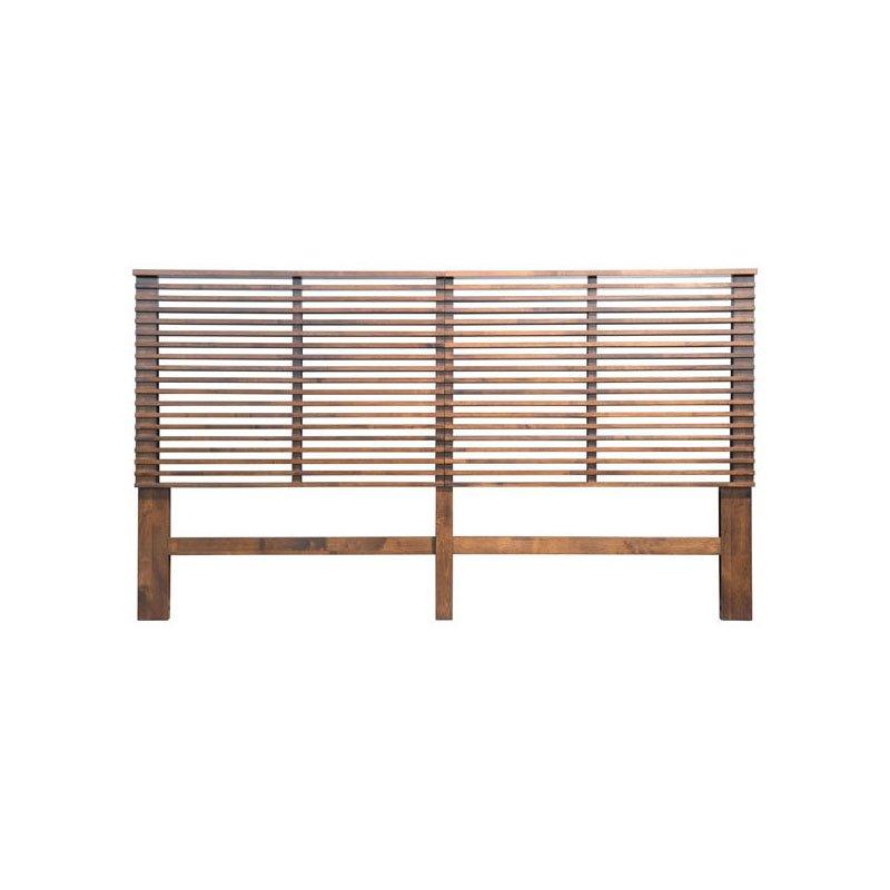 HomeRoots Furniture Headboard King Walnut (309009)
