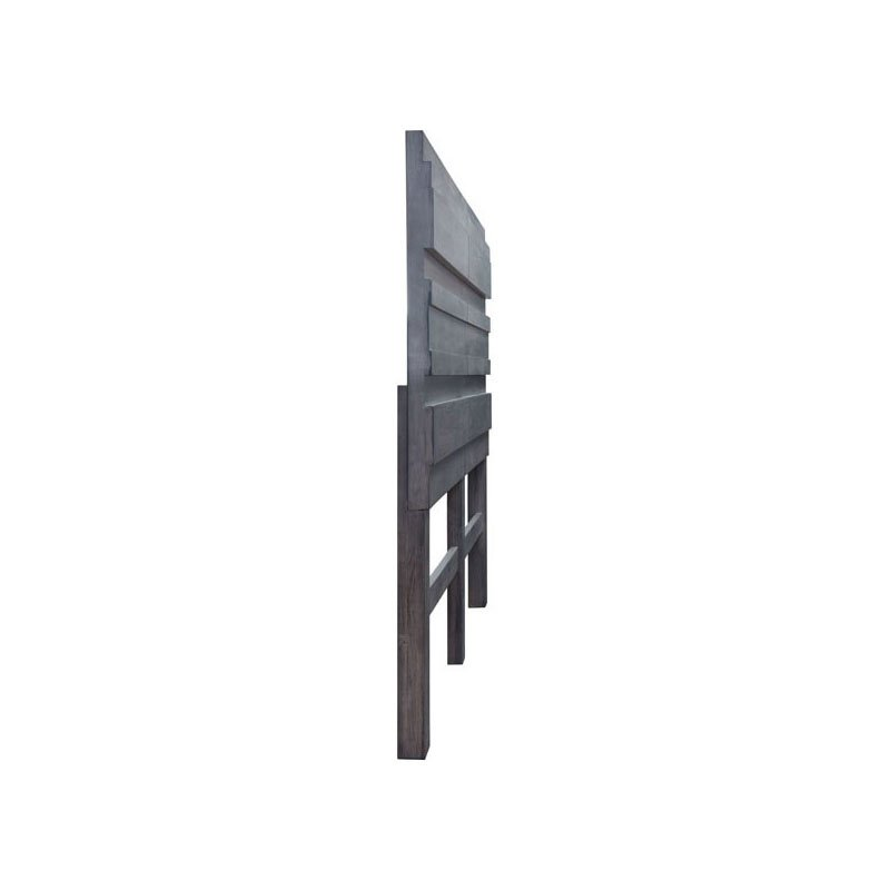 HomeRoots Furniture Headboard Queen Old Gray (309007)