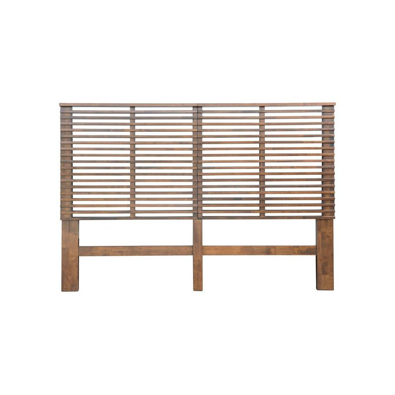 HomeRoots Furniture Headboard Queen Walnut (309010)