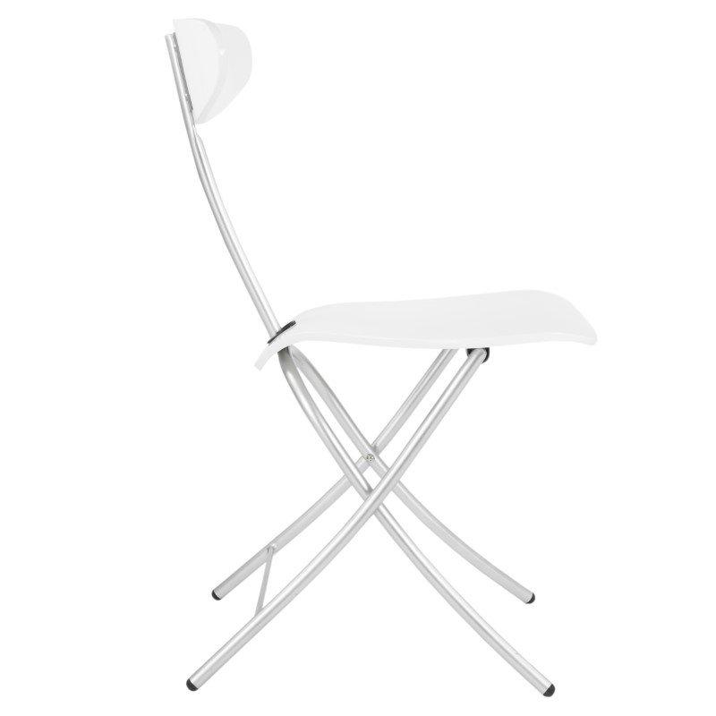 HomeRoots Furniture High Gloss Folding Chair (Set of 2) (248547)