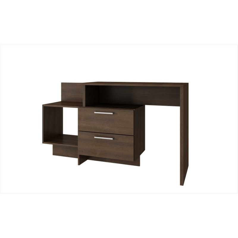 HomeRoots Furniture Home Desk with 1 Shelves in Tobacco (250825)