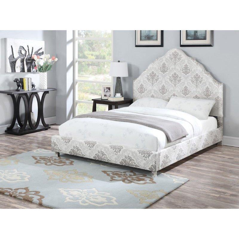 HomeRoots Furniture King Bed, Fabric, CA Foam (TB117) (285561)