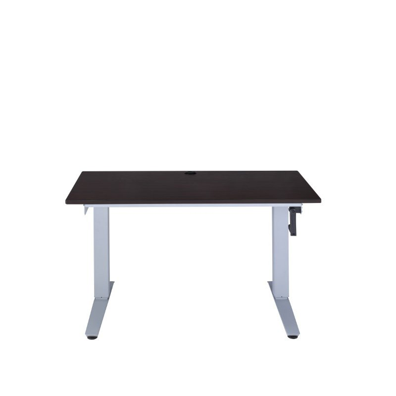 HomeRoots Furniture Lift Desk in Espresso - Paper Veneer, Abs, Metal Espresso (286415)