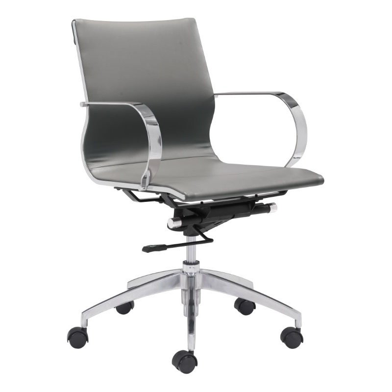 HomeRoots Furniture Low Back Office Chair Gray (309029)