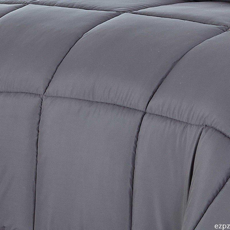HomeRoots Furniture Luxury Grey Faux Fur Throw Blanket and Back Fleece (248179)