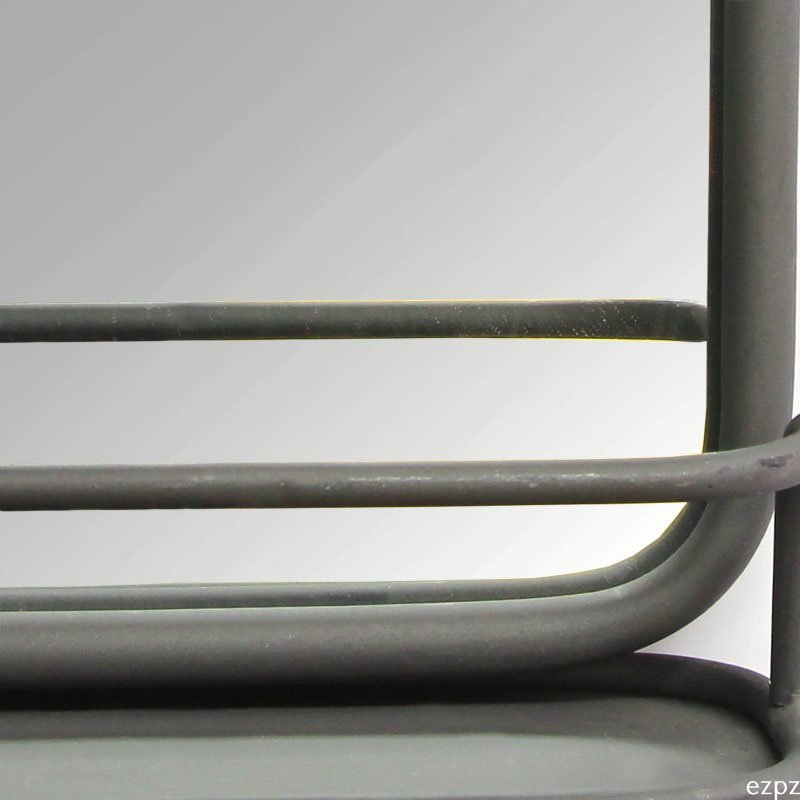 HomeRoots Furniture Metal Mirror with Shelf (321297)