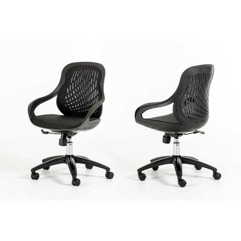 HomeRoots Furniture Modern Black Office Chair (283769)