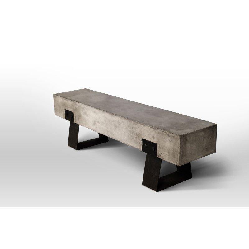 HomeRoots Furniture Modern Concrete Bench (283275)