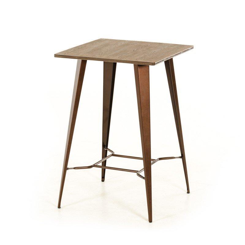 HomeRoots Furniture Modern Copper & Wood Bar Table (282894)