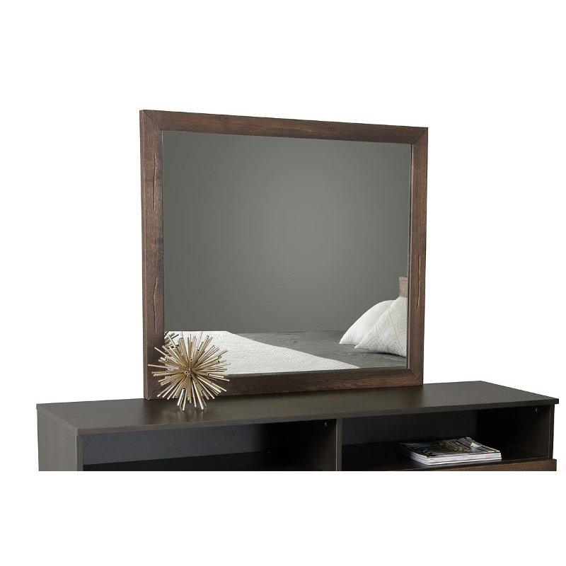 HomeRoots Furniture Modern Dark Aged Oak Mirror (283077)