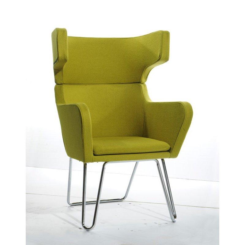 HomeRoots Furniture Modern Green Fabric Lounge Chair (283983)