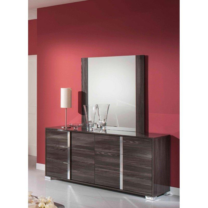 HomeRoots Furniture Modern Grey Mirror (282680)