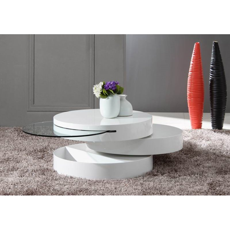 HomeRoots Furniture Modern Swivel Coffee Table (283332)