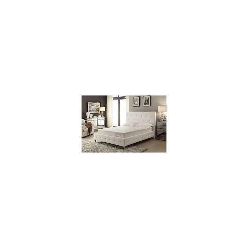 HomeRoots Furniture Modern Tufted Bed with Upholstered Headboard (289354)