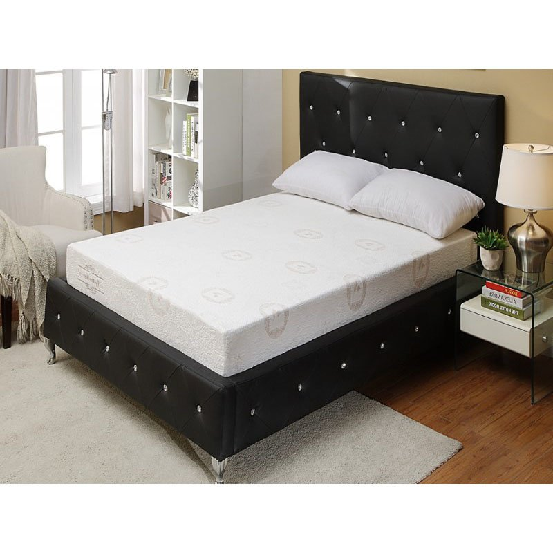 HomeRoots Furniture Modern Tufted Bed with Upholstered Headboard (289356)