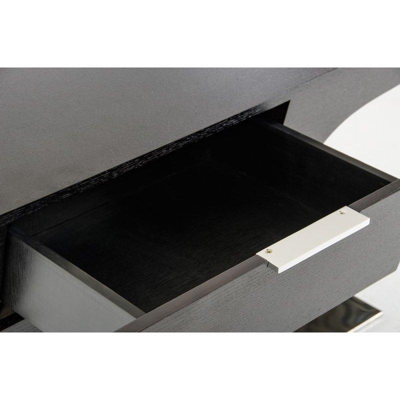 HomeRoots Furniture Modern Wenge Office Desk (282743)