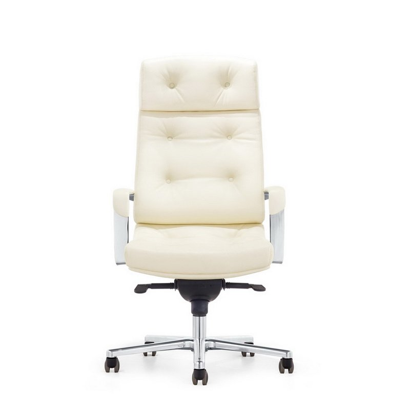 HomeRoots Furniture Modern White High-Back Office Chair (283264)