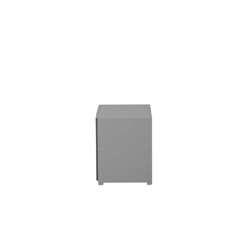 HomeRoots Furniture Nightstand in Light Grey and Dark Grey - MDF, Poplar, Plywood (319117)